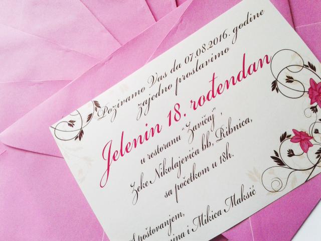 pozivnice za rođendan tekst 18 rodjendan Pozivnice – CopyHouse pozivnice za rođendan tekst 18 rodjendan